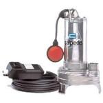 Pompe d'assainissement pour eau chargée avec roue vortex